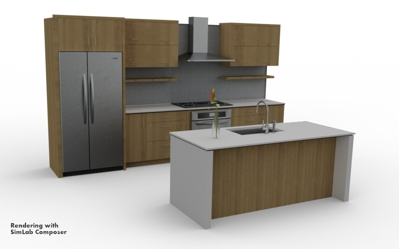 Sketchup components free download kitchen skytell for Sketchup kitchen design
